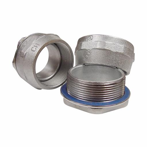 "Eaton Crouse-Hinds series HUB conduit hub, Malleable iron, 1/2"", Space-Saver"