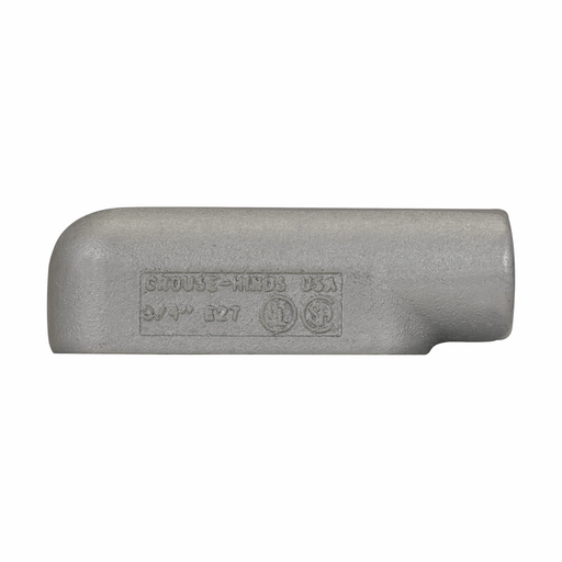 Eaton Crouse-Hinds series Condulet Form 7 conduit outlet body, Feraloy iron alloy, E shape, 3/4""