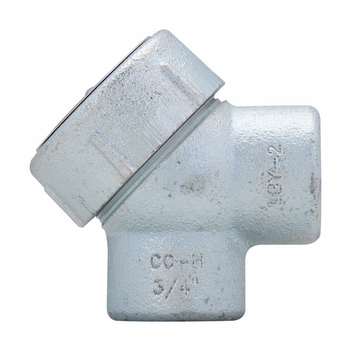 "Eaton Crouse-Hinds series Condulet LBY service entrance elbow, Rigid/IMC, Copper-free aluminum, 90°, 1"""