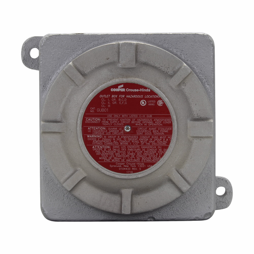 Eaton Crouse-Hinds series GUB cover gasket, Used with GUB03, GUB04 series junction boxes