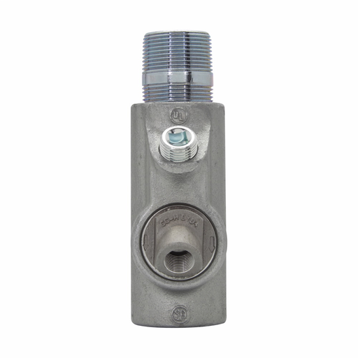 """Eaton Crouse-Hinds series EYD conduit sealing fitting with drain, Male and female, Feraloy iron alloy and/or ductile iron, Vertical only, Group B rated, 3"""""""