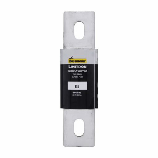 Eaton Bussmann Series KLU Fuse, Current-limiting, Time Delay, 600V, 800A, 200 kAIC at 600 Vac, Class L, Bolted blade end X bolted blade end, Bolt, 2.5, Inch, Carton: 1, Non Indicating, 5 S at 500%