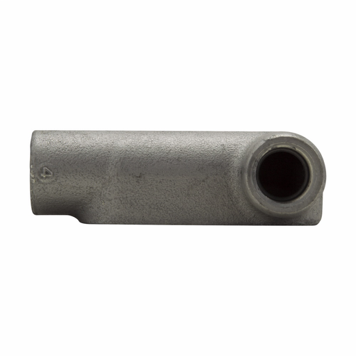 Eaton Crouse-Hinds series Condulet Form 7 conduit outlet body, Feraloy iron alloy, LR shape, 4""