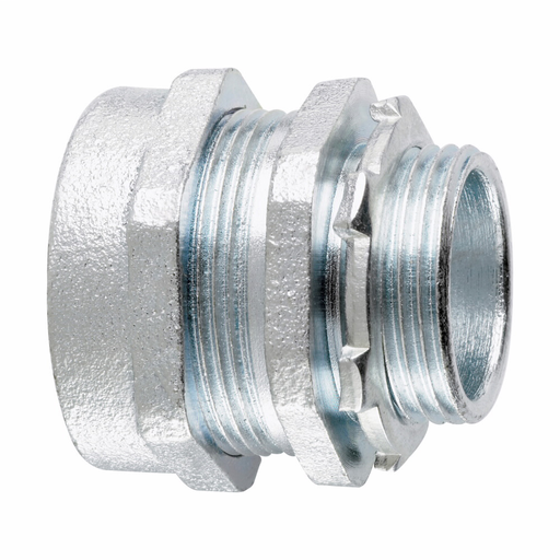 Eaton Crouse-Hinds series CPR compression connector, Rigid/IMC, Straight, Insulated, Malleable iron, 1/2""