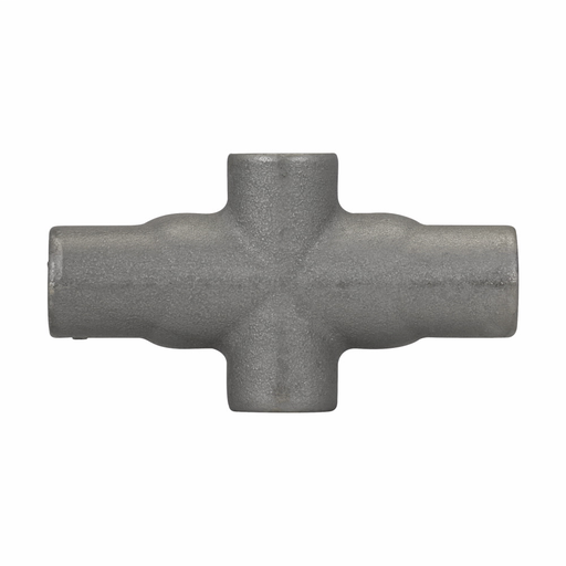 Eaton Crouse-Hinds series Condulet Form 7 conduit outlet body, Feraloy iron alloy, X shape, 1-1/4""