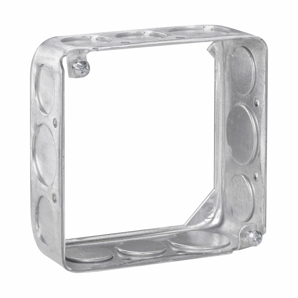 Crouse-Hinds Series TP428 4 x 4 x 1-1/2 Inch Steel Square Cover Extension Ring