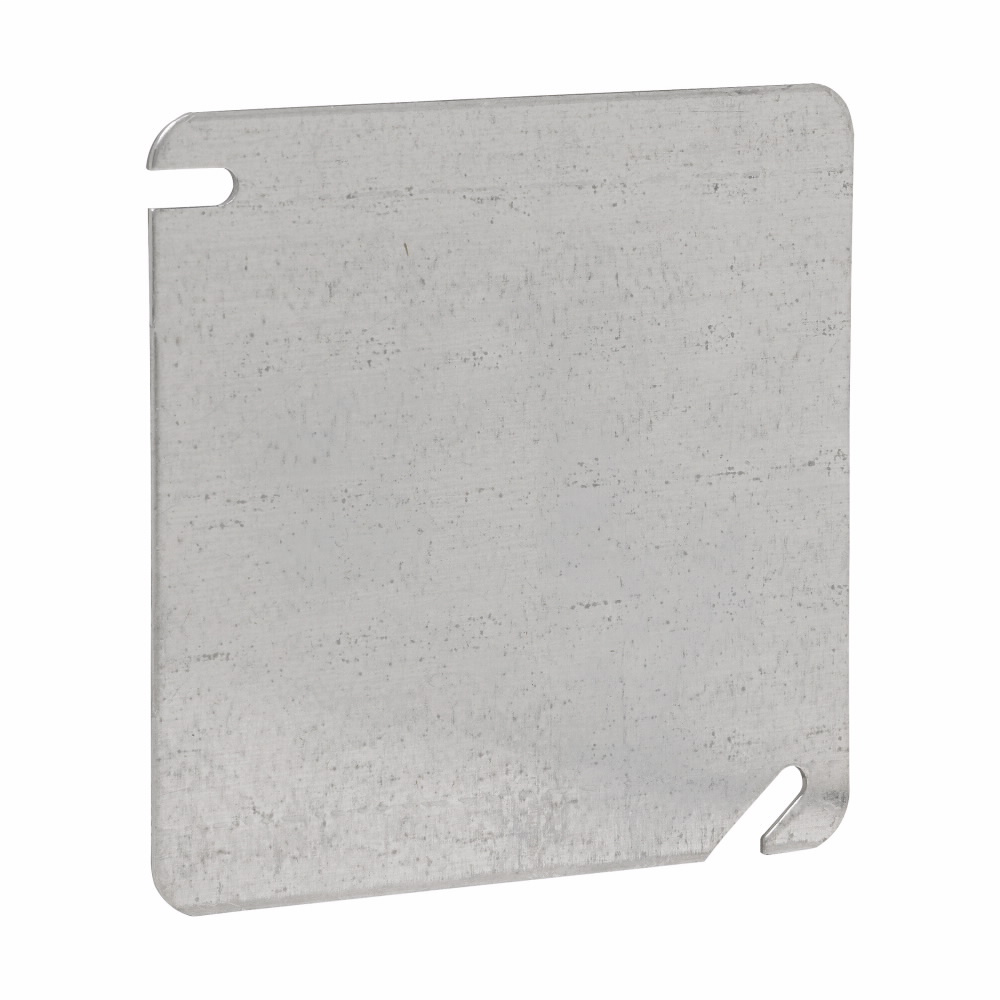 Crouse-Hinds Series TP472 4 Inch Steel Flat Blank Square Box Cover