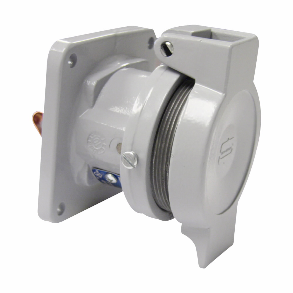 Crouse-Hinds Series CDR1034 100 Amp 600 VAC/250 VDC 4-Pole 3-Wire NEMA 4X Pin and Sleeve Receptacle