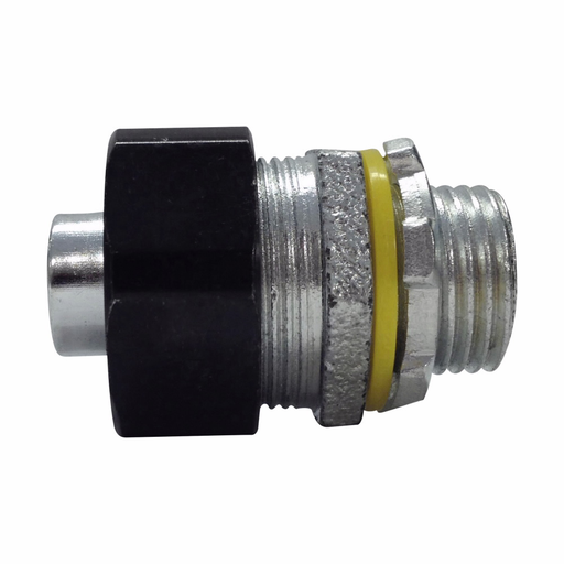 """Eaton Crouse-Hinds series LiQuik LTQ liquidtight connector, FMC, Straight, Non-insulated, Malleable iron, 1-1/2"""""""