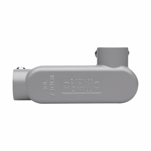 """Eaton Crouse-Hinds series Condulet Series 5 conduit outlet body, Rigid/IMC, Copper-free aluminum, LL shape, Body, traditional cover and gasket, 1/2"""""""