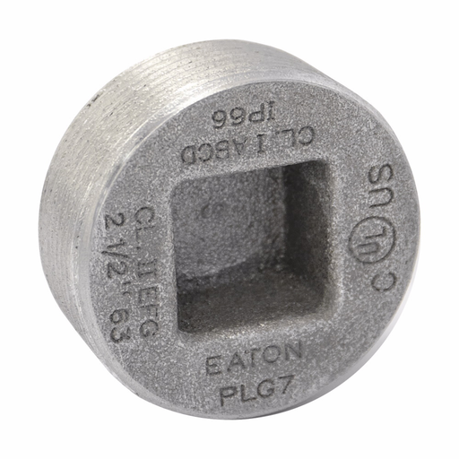 "Mayer-Eaton Crouse-Hinds series PLG conduit plug, Rigid/IMC, Copper-free aluminum, 3/4"", Recessed-1"