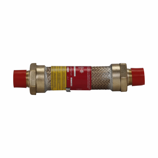 """Eaton Crouse-Hinds series ECGJH coupling, 15"""" flexible length, Male connections both ends, Forged brass, 3/4"""" trade size"""