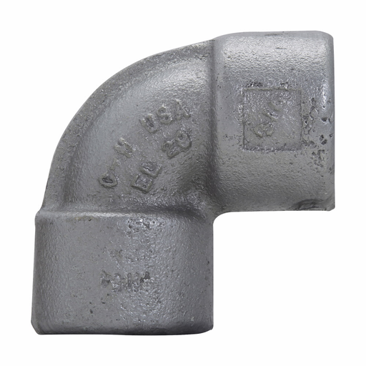 """Mayer-Eaton Crouse-Hinds series EL elbow, Female, Feraloy iron alloy or ductile iron, 90°, 3/4""""-1"""
