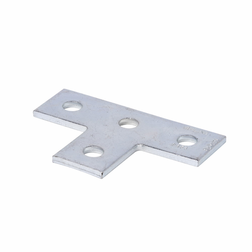 """Mayer-Eaton B-Line series strut fittings and accessories, 5.37"""" Height, 3.5"""" Length, 1.62"""" Width, .680lbs, Steel, Flat four hole tee plate 