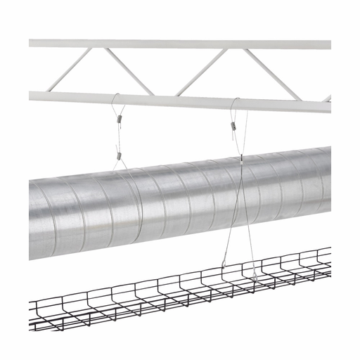 """Eaton B-Line series hanging system, KwikWire wire rope kit, Y Hook termination, 40"""" wire length"""