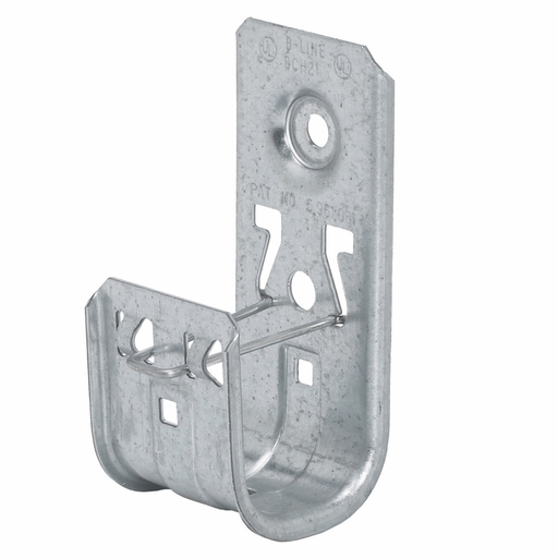 """Mayer-Eaton B-Line series datacomm and low voltage support fasteners, Cable hook, Wall mount, 1-5/16"""" Hook, 1 J-hook, Pre-galvanized, Load capacity of 30 lbs, Steel-1"""
