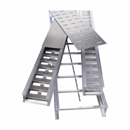 """Mayer-Eaton B-Line series imperial cable tray and ladder, 4.12"""" height, 144"""" length, 12"""" width, 18.548lbs, Straight section series 24, Aluminum, 9"""" rung spacing-1"""