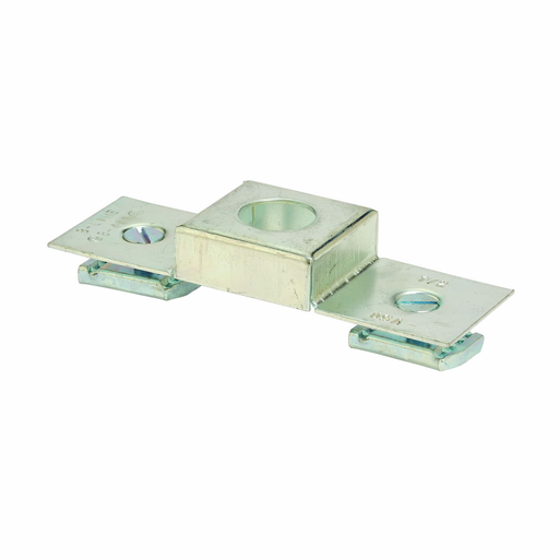 """Mayer-Eaton B-Line series strut electrical accessories, .62"""" height, 5.62"""" length, 1.62"""" width, Steel, 2pc 1/4 -20 flat head screw 2pc N224WO channel nut, Conduit connection plate, 16 gauge, Electro-plated zinc, 1/2-1"""