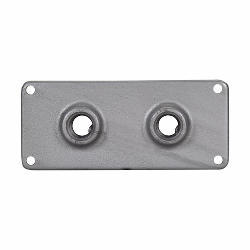 """Eaton Crouse-Hinds series RS/RSM conduit hub plate, 8-1/2"""" x 4"""", Feraloy iron alloy, 2 hubs, 3/4"""" trade size"""