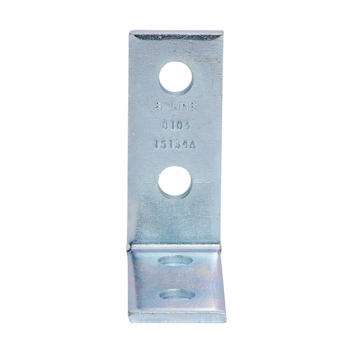"""Mayer-Eaton B-Line series strut fittings and accessories, 4.12"""" Height, 4.12"""" Length, 1.62"""" Width, .78lbs, Steel, Pre-assembled fitting, Four hole corner angle, 90 deg, Electro-plated-1"""