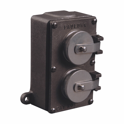 Mayer-Eaton Crouse-Hinds series Pauluhn 25B receptacle, 15A/20A, Copper-free aluminum, Surface, 5-15/20R, One receptacle, 125 Vac-1