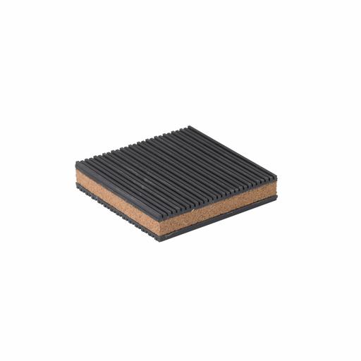"""Mayer-Eaton B-Line series ribbed neoprene steel vibration pad, Air conditioner, cooling towers, compressors, fans, 3/16"""" deflection, 1800 lbs load cap, Oil-resistant neoprene, Non-skid, CNP type-cork and ribbed neoprene vibration pad-1"""