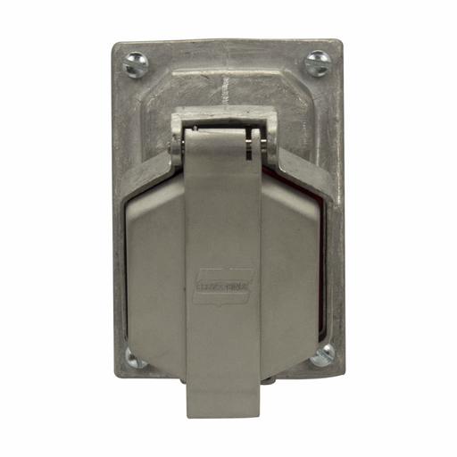 Mayer-Eaton Crouse-Hinds series Ark-Gard ENR Value receptacle, 20A, Double, 50-400 Hz, Copper-free aluminum, 5-20R, Two-gang, Dead end, 125 Vac-1