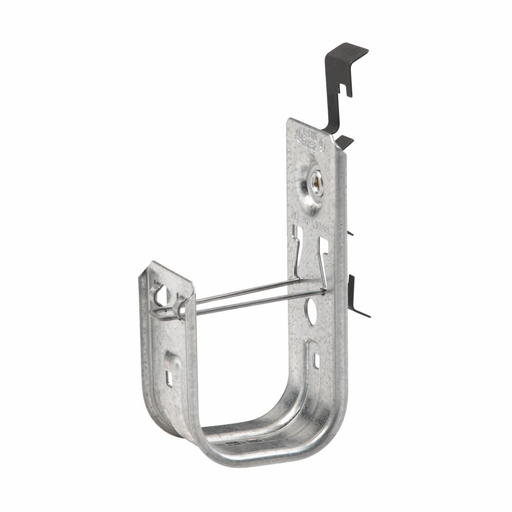 """Mayer-Eaton B-Line series datacomm and low voltage support fasteners, W2 series attaches to #12 wire thru 1⁄4"""" plain or threaded rod., Cable to wire and rod fastener, Cable mount, 2"""" Hook, 1 J-hook, Pre-galvanized, Load capacity 25 lbs, Steel-1"""