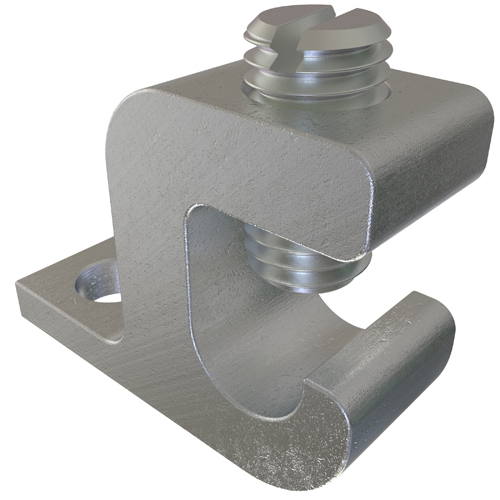 ILSCO GBL-4 UL Listed 4-14 AWG 7/32 Inch Mounting Hole Aluminum Ground Clamp
