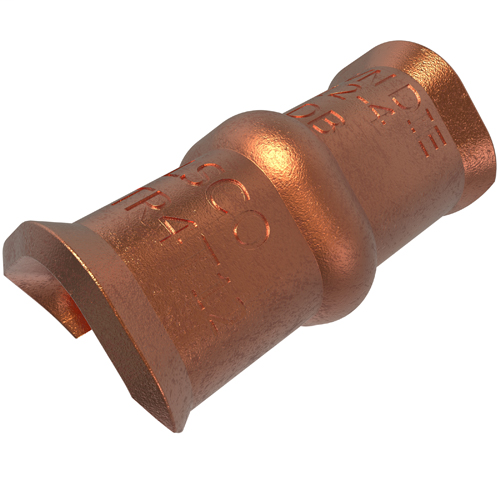 ILSCO TWCTR4T12 1.21 Inch 1.27 Inch Strip Copper Compression Grounding C-Tap Connector
