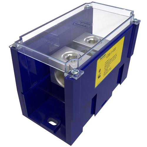 ILSCO LDB-11-500 380 Amp 600 Volt Electrotinned Aluminum Alloy Power Distribution Block