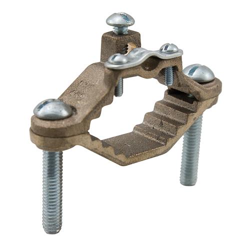 ILSCO BGC-1A 8 to 4 AWG 1-1/2 x 1-3/8 x 2-1/4 Inch Cast Bronze Ground Rod Clamp
