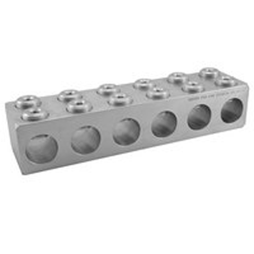 Aluminum Multi-Tap Connector, Dual Rated, Conductor Range 750-1/0, 4 Ports