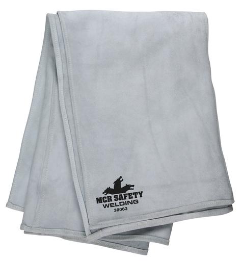 Leather Welding Blanket, 6' x 3', Heavy Duty Cowhide Leather