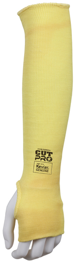 MCR Safety Cut Pro® 7 Gauge DuPont™ Kevlar® Competitive Value (CV)Cut Resistant Sleeves Thumb Slot 18 Inches x 2 1/4 Inches