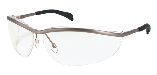 Klondike® KD2 Series Safety Glasses with Clear Lenses Lightweight Metal Frame Adjustable Nose Pads