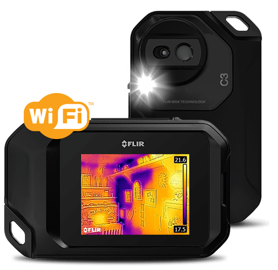 FLIR,72003-0303,Compact Professional Thermal Camera w/MSX and WiFi 80 x 60 Resolution/9Hz