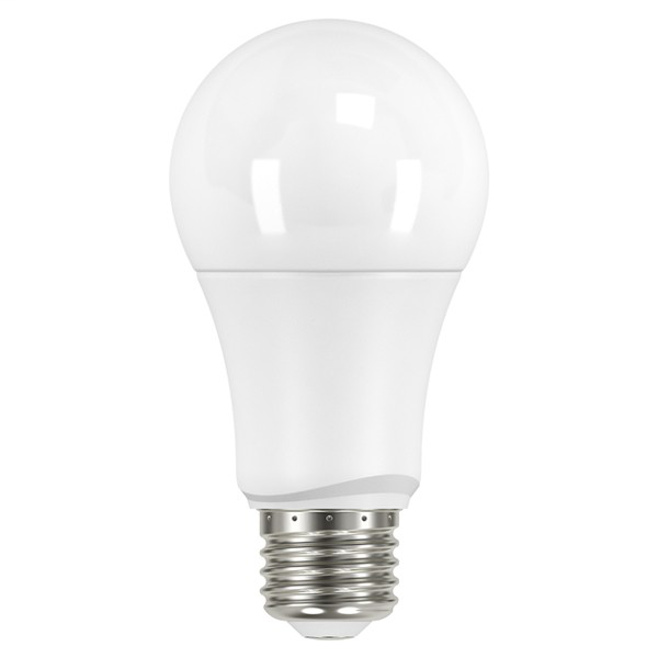 9.5W; A19 LED; Frosted; 2700K; Medium base; 220 deg. beam spread; 120V; Non-Dimmable; 4-Pack