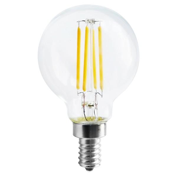 4W G16 LED; Clear; Candelabra base; 2700K; 350 Lumens; 120V
