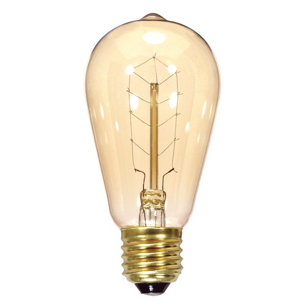 40 watt ST19 Incandescent; Clear; 3000 Average rated hours; 160 lumens; Medium base; 120 volts