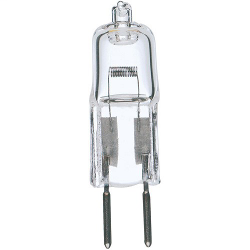 50 watt; Halogen; T4; Clear; 2000 Average rated hours; 900 Lumens; Bi Pin GY6.35 base; 12 volts