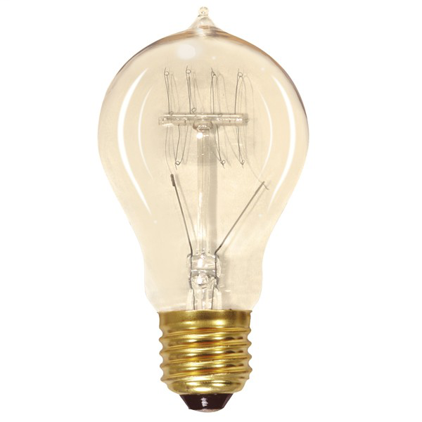 25 watt A19 Incandescent; Clear; 3000 Average rated hours; 100 lumens; Medium base; 120 volts