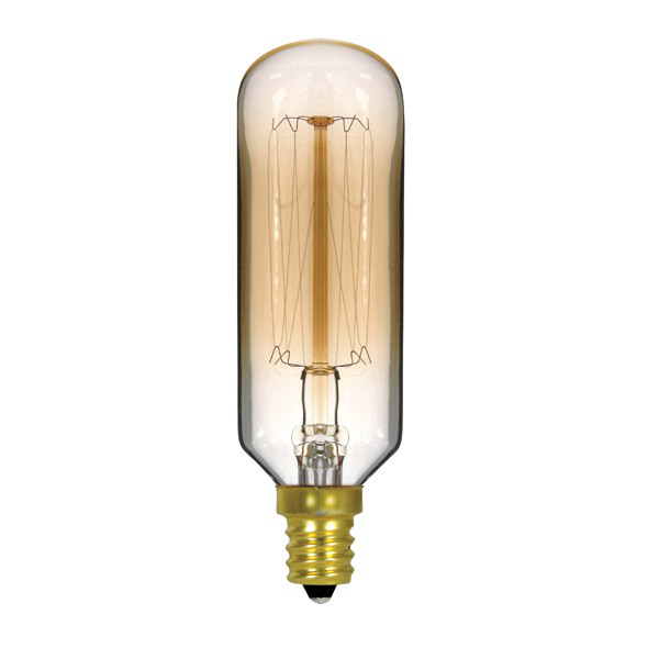 40 watt T9 Incandescent; Clear Gold; 3000 Average rated hours; 160 lumens; Candelabra base; 120 volts