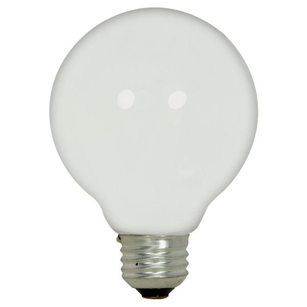 43 watt; Halogen; G25; White; 1000 Average rated hours; 750 Lumens; Medium base; 120 volts