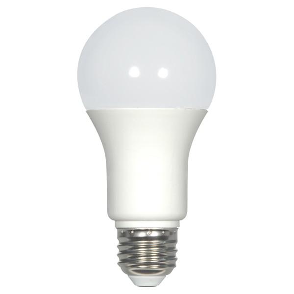9.8W; A19 LED; 3500K; Medium base; 220 deg. beam spread; 120V