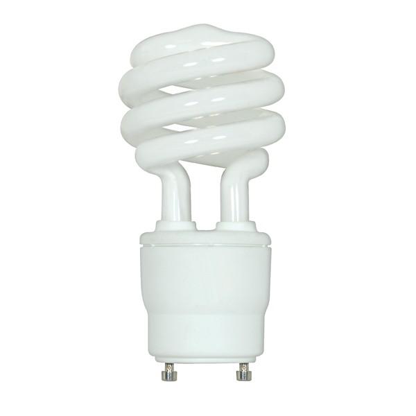 18 watt; Mini Spiral Compact Fluorescent; 2700K; 82 CRI; GU24 base; 120 volts