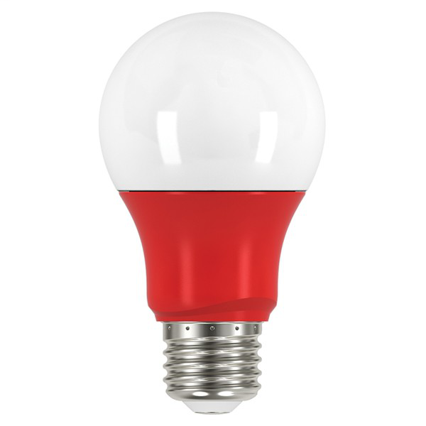 2W; A19 LED; Red when lit; Medium base; 120V