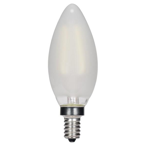 3.5W B11 LED; Frosted; Candelabra base; 2700K; 350 Lumens; 120V