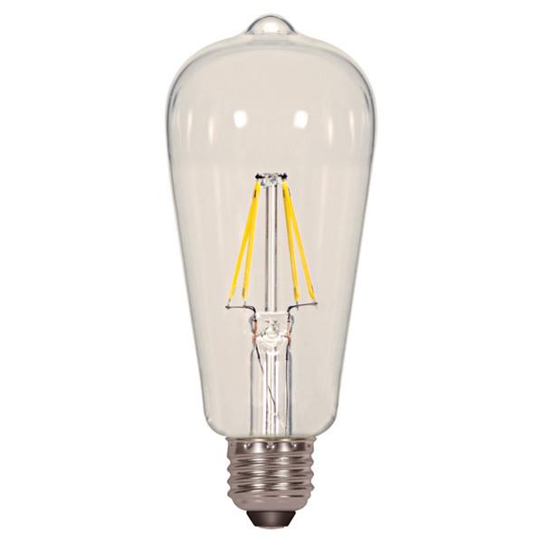 6.5W ST19 LED; Clear; Medium base; 2700K; 810 Lumens; 120V