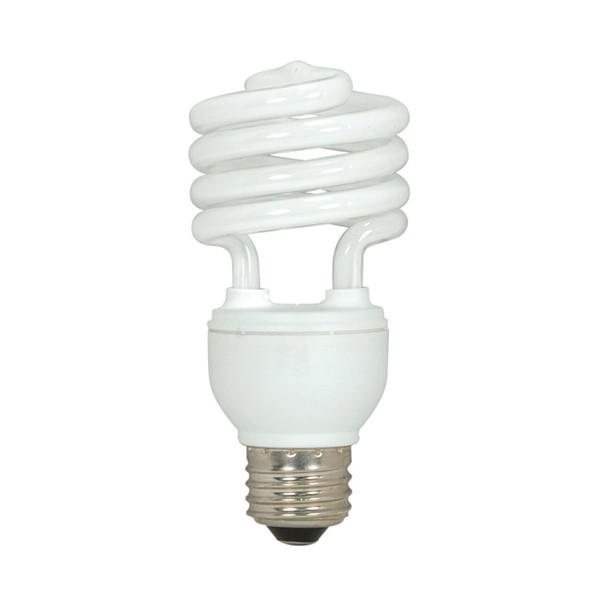 15 watt; Mini Spiral Compact Fluorescent; 2700K; 82 CRI; Medium base; 120 volts